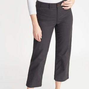 Charcoal grey wide leg crops size 8